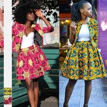 Fashion Ladies African Clothes 2020 News Coat Tutu Skirts Ankara Style Dashiki Print African Dresses for Women Robe Africaine