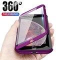 Роскошный чехол для телефона с полной защитой 360 градусов для iPhone 11 Pro Max XR XS X 8 7 6 6S Plus 5 5S SE, чехлы для телефонов с бесплатным закаленным стекло...