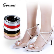 50Pairs/lot Shoelace for Women High Heels Holding Loose Anti-skid Straps Lace Shoes Band Wholesale Dropshipping Ankle Tie Belt