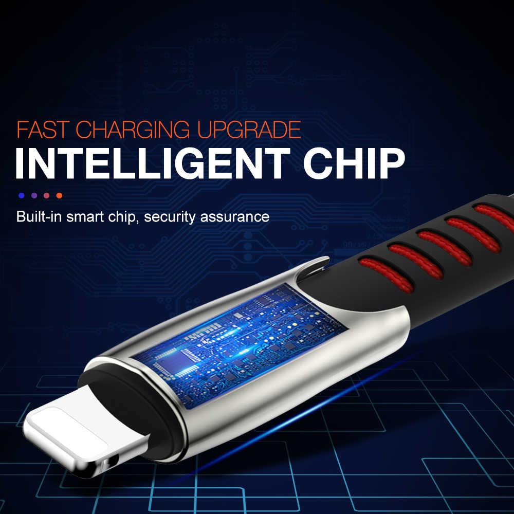 3a cabo de carregamento rápido usb para iphone x xr xs max 11 pro 8 7 6s mais 5 5S ipad mini 1m 2m 3m fio longo cabo de dados do carregador do telefone
