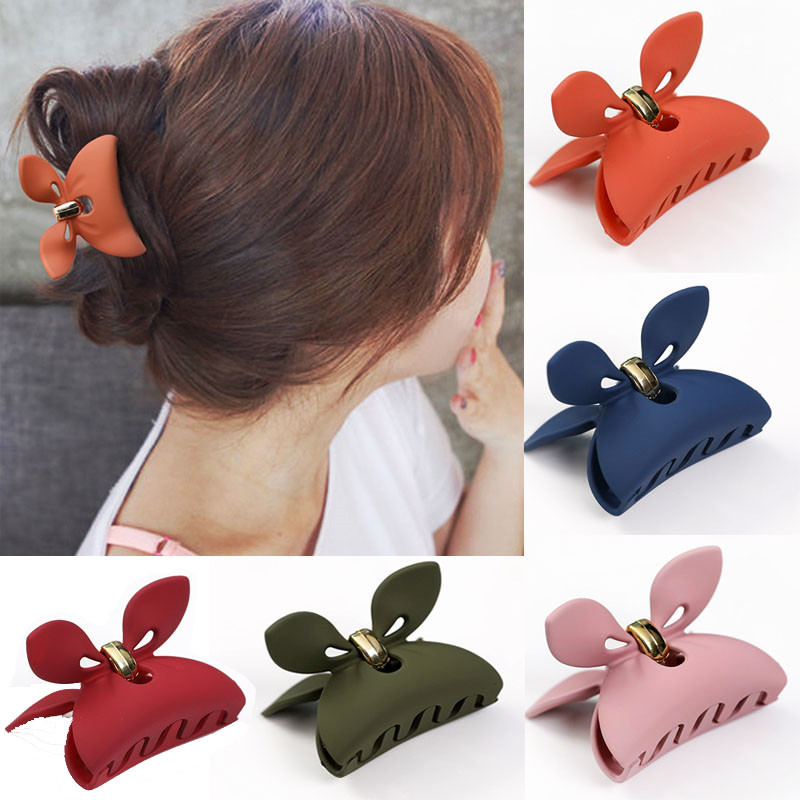 Candy Color Acrylic Hair Claws Crab Clamp Hair Clip Make Up Hair Styling Tools