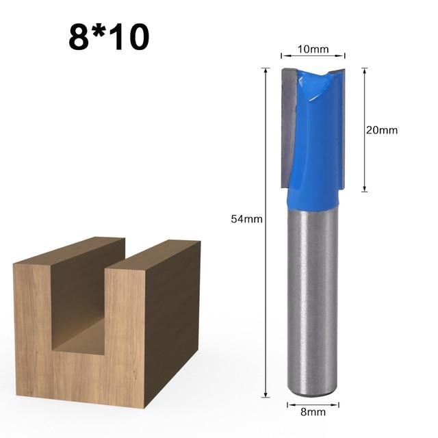 1 pièces 8mm tige droite routeur à bois jeu de forets charpentier fraise 6/8/10/12/14/18/20mm diamètre de coupe