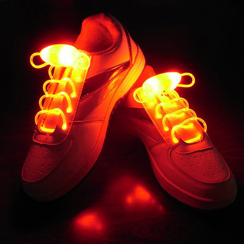 Novelty Lights Led Shoelace Bicycle LED Warning Light Safety Night Running Shoe Safety Clips Light With Rechargeable Battery New