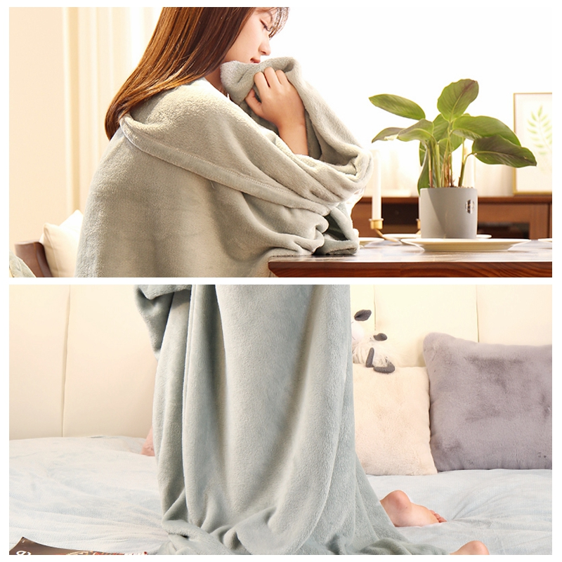 Nap Flannel Blanket For Beds Light Thin Quilt Office Lunch Break Shawl Blanket Comfort Bedspread Sofa Blanket Dropshipping