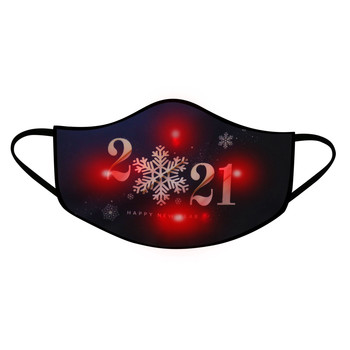 1Pcs Adult LED Mask 2021 Happy New Years Glowing Mask For Men And Women Light Up Mask Breathable Face Mask Fashion Mascarillas image