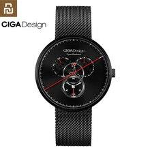 Oryginalny Youpin CIGA zegarek czas maszyna trzy biegów projekt prosty kwarcowy zegarek jeden wskaźnik projekt regulowane zegarki z datą H24