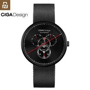 Image 1 - מקורי Youpin CIGA שעון זמן מכונה שלושה הילוך עיצוב פשוט קוורץ שעון אחד מצביע עיצוב מתכוונן תאריך שעונים H24