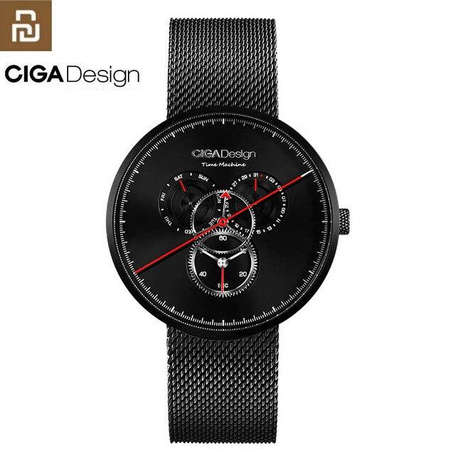 מקורי Youpin CIGA שעון זמן מכונה שלושה הילוך עיצוב פשוט קוורץ שעון אחד מצביע עיצוב מתכוונן תאריך שעונים H24