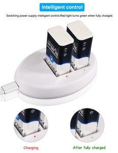 Image 5 - פאלו 9V סוללה מטען עבור 9V 6F22 ליתיום יון Ni Mh Ni Cd סוללה האיחוד האירופי Plug 9V USB מטען