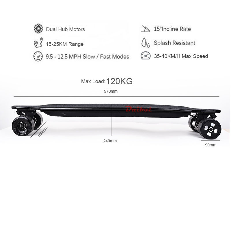 Daibot Electric Scooter For Adults 4 Wheel Electric Scooters 40KMH Dual Hub Motor Remote Longboard Electric Skateboard       (13)