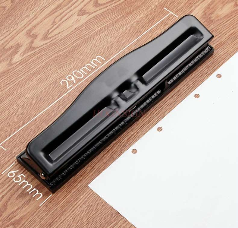Hole Puncher Stationery Binding Puncher Student Manual Loose-leaf Paper Manual Puncher Round Hole Three Hole Four Hole Puncher