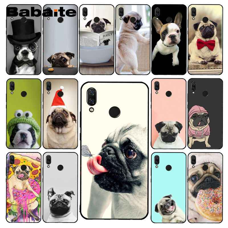 Babaite Animal Cute Pug Dog Reading Eating Phone Case for Xiaomi Redmi4X 6A S2 Go Redmi 5 5Plus Note4 Note5 7 Note6Pro