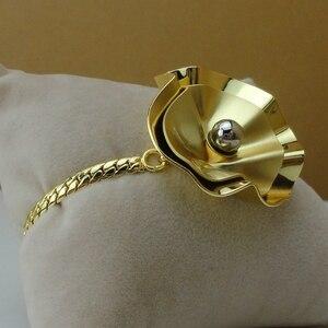 Image 4 - Yuminglai Edlen Schmuck Blume Design Schmuck Sets 24K Dubai Gold Schmuck FHK8077