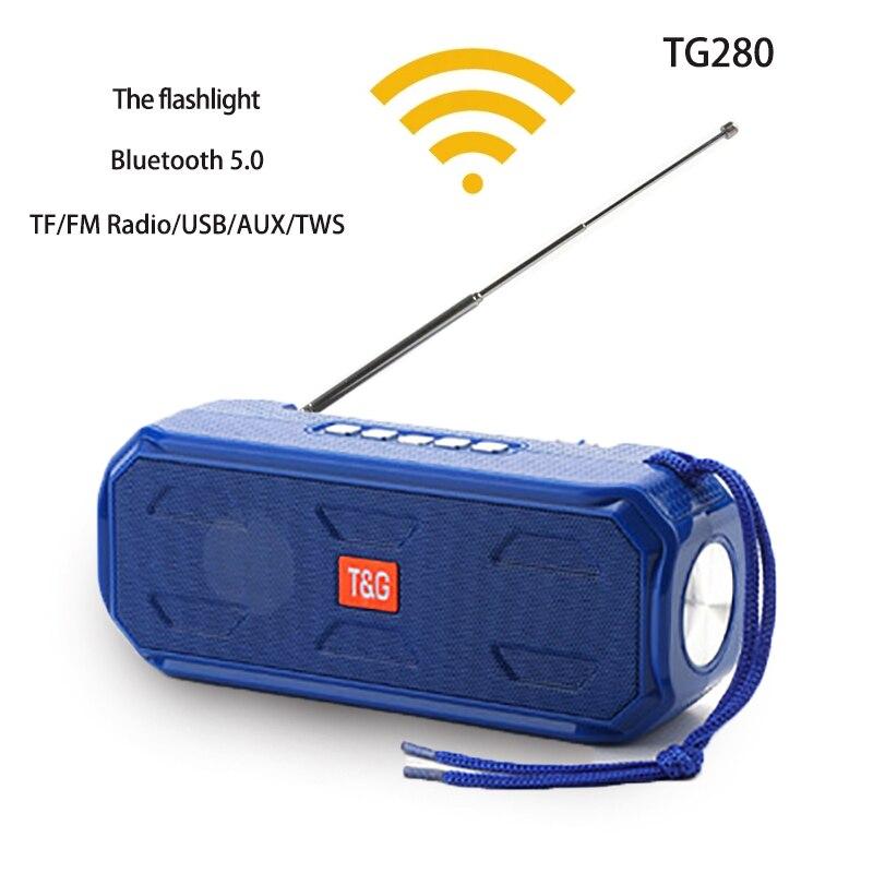 Портативная беспроводная Bluetooth-колонка с супер басами, стерео сабвуфер, поддержка TWS TF AUX /USB/AUX/ FM-приемник, радио с фонариком