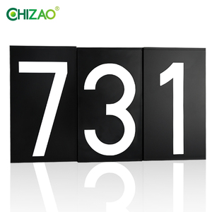 CHIZAO Doorplate House Number Solar Lamp LED Light Illumination Street Shop Store Outdoor Lighting With Rechargeable Battery