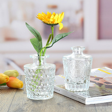 Simple Transparent Glass Small Vase Nordic Decoration Living Room Flower Home