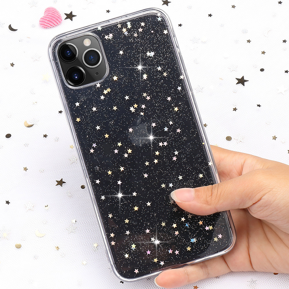 LLZ.COQUE Transparent Soft Case for IPhone 11 Pro Max X Xr Xs Slim Tpu Diamond Phone Cover for IPhone 7 Plus 8 6S 6 5 5S SE Capa