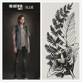 The Last of Us: Part II Cosplay Ellie Fake Tattoo Water Transfer Waterproof Temporary Sticker Unisex Sexy Beauty Body Art Stuff - discount item  50% OFF Costumes & Accessories