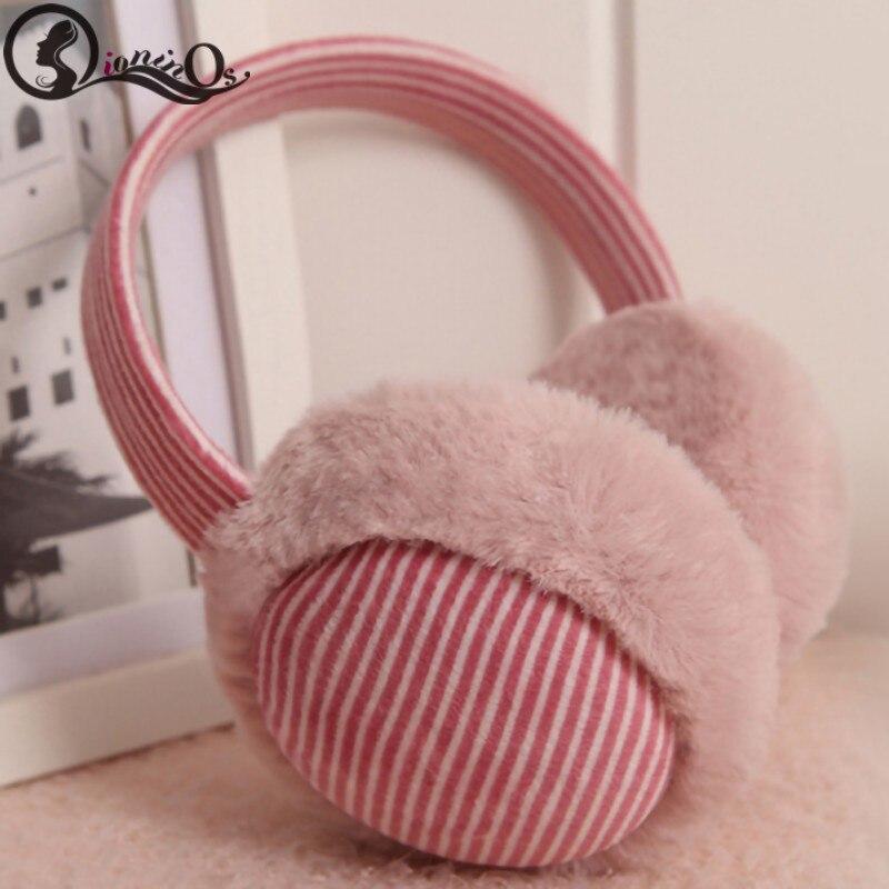 Autumn Winter Children's Solid Earmuffs Headphones Warm Comfortable Fashion Earmuffs Music Earphones AUX Cable Soft Ear Warmers