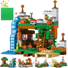 378pcs 4 in 1 Minecrafted Building Blocks Compatible city House Figures Dragon Bricks Set Educational Toys for Children Gift(China)