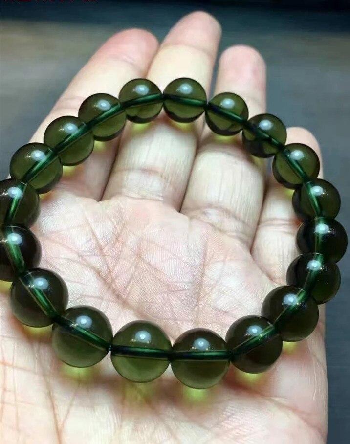 EASTCODE Fashion A+++ 100/% Natural Moldavite 1pc Green aerolites Czech Crystal Stone 8mm Bead Meteorite Bracelet Energy
