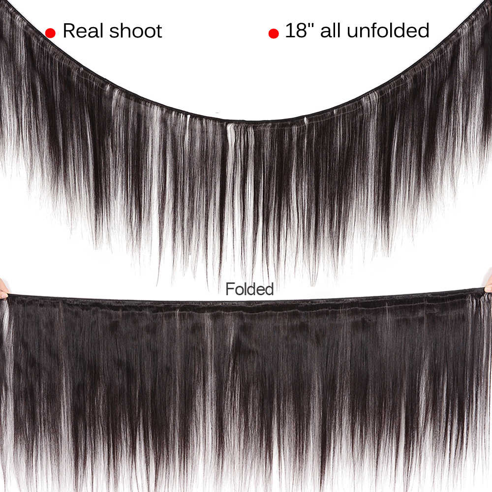 Lanqi feixes de cabelo reto com fechamento tecer cabelo humano 2 4 pacotes com fecho peruano feixes de cabelo com fechamento não remy