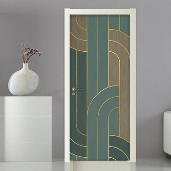 3D Door Sticker Striped Wall Mural Art Wallpaper DIY Self Adhesive Removable Poster Wall Decals Living Room Stickers Home Decor