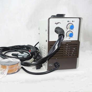 Bezgazowa spawanie MIG maszyna 120A 230V inwerter IGBT 1kg Mini szpula własna tarcza E71T-GS drut rdzeniowy drut łukowy bez gazu spawarka MIG tanie i dobre opinie TywelMaster 6 5kg Variable Tywel120FC 360X160X280mm Gasless MIG Welding 30-120(±5) A 0 6-1 0mm IP21S