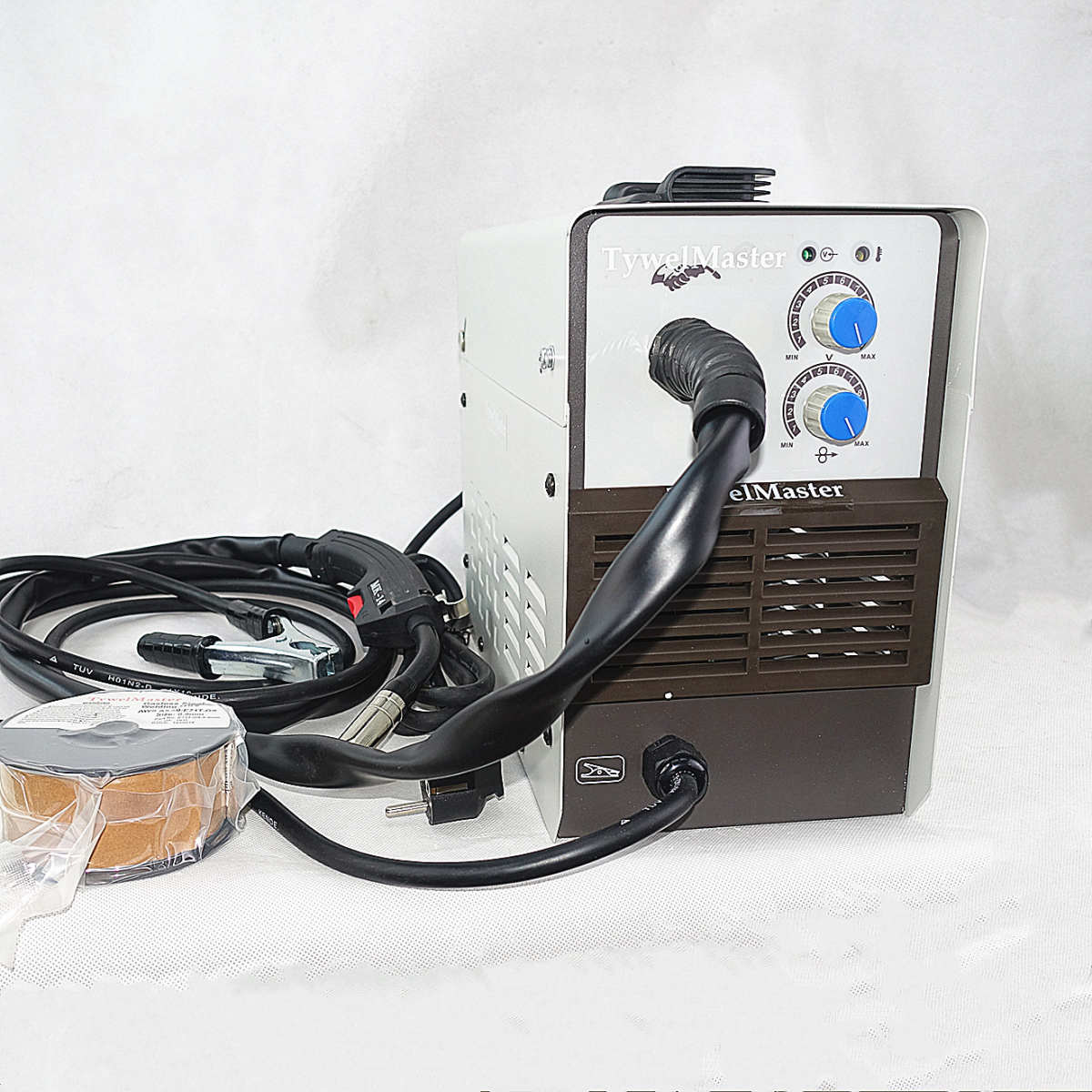 Gasless MIG Welding Machine 120A 230V Inverter IGBT 1kg Mini Spool Self Shield E71T-GS Flux Cored Arc Wire No Gas MIG Welder