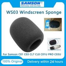 100% Nguyên Bản Samson WS03 Micro Điện Dung Lớn Kế Bền Chắn Gió Bọt Biển Samson Mic C01 C03 CL7 CL8 C01U PRO c03U