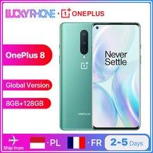 OnePlus – Smartphone 8, Version globale, 5 go 8 go 128 go, Snapdragon 865, écran fluide 6.55 pouces 90Hz, caméra 48mp, Bluetooth 5.1, 4300 mAh