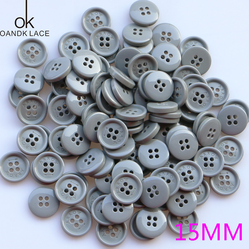 Black Resin Round Buttons 20mm Sew On 4 Holes 20 Pcs Sewing DIY Jewellery Making