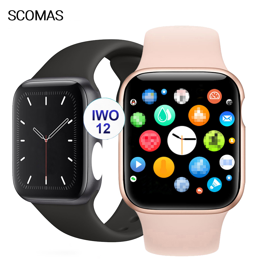 SCOMAS Original IWO <font><b>12</b></font> <font><b>Smart</b></font> <font><b>Watch</b></font> Series 5 IP68 Waterproof ECG Heart Rate Monitor 30 <font><b>Watch</b></font> Faces Smartwatch For iOS Android image