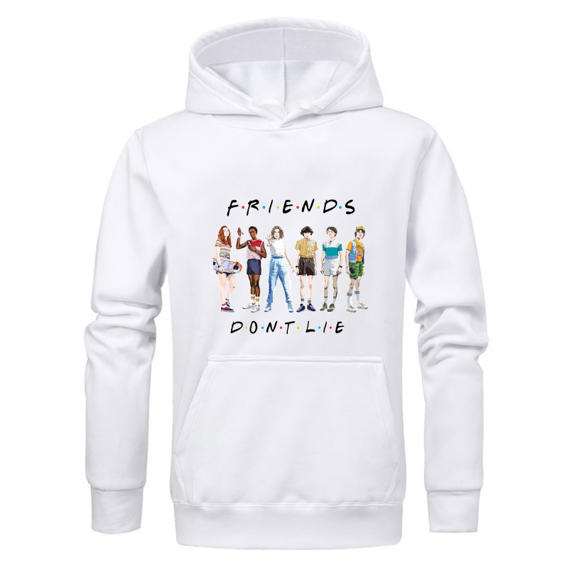 Stranger Things Mens Winter Hoodies Friends Don's Lie Letter Print Sweatshirt Men Fashion Hip Hop  Men Hoodies Sweatshirts