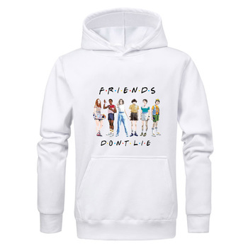 Stranger Things mens Winter Hoodies Friends Don's Lie Letter Print Sweatshirt Men Fashion Hip Hop  Men Hoodies Sweatshirts