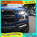 Car Styling Head Lamp case for Ford F150 Raptor LED Headlights 2015-2019 DRL Daytime Running Light Bi-Xenon HID Accessories
