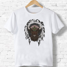 American Bison Childr Printed Funny T-Shirts Kids Summer Tops Clothes Baby Girls/Boys Casual Game Cartoon Tees(China)