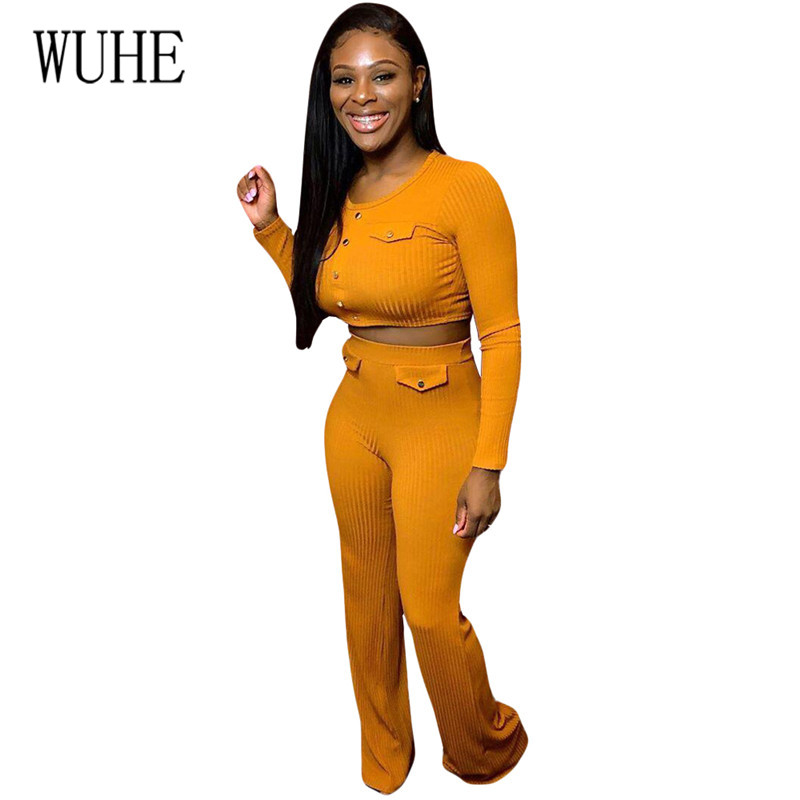 YEYA High Quality Women's Sexy Threaded Pit Strips Two Pieces Sets Open Waist Elegant Long Playsuits Casual Fashion Jumpsuits