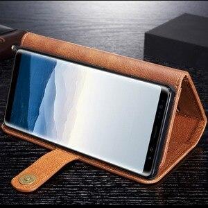 Image 5 - Кожаный чехол в стиле ретро с откидной крышкой для Samsung Galaxy S8 S9 S10 Plus Note 8 9, кошелек в три сложения, сумка для телефона с магнитной задней крышкой