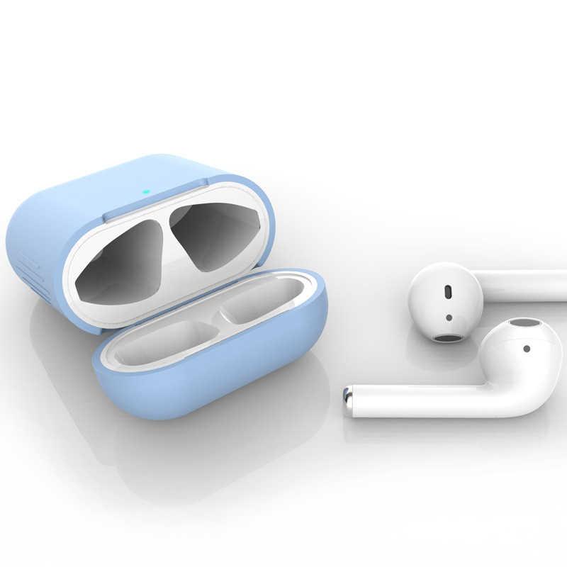 Pokrowiec na słuchawki do apple airpods 2 pokrowiec ochronny bezprzewodowy zestaw słuchawkowy Bluetooth Anti-lost silikonowe słuchawki douszne