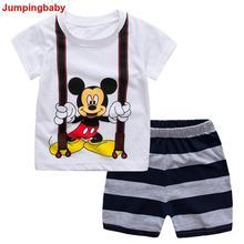 2017 Kids Clothes Children Boys Girls Summer Clothing Sets Baby Short Sleeve Set Roupas Infantis Menino Menina Costume Suits New стоимость