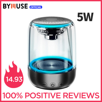 "BYMUSE C7 ""5W"" Wireless Bluetooth Speakers LED Lights  Stereo Column Portable Speaker  TF Card FM  For Phones Speaker HIFI 1"
