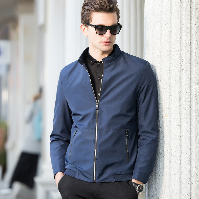 Mens Bomber Jacket Spring Autumn Slim Fit Solid Male Thin Jackets Brand Business Casual Tops Men's windbreaker Jacket Plus Size