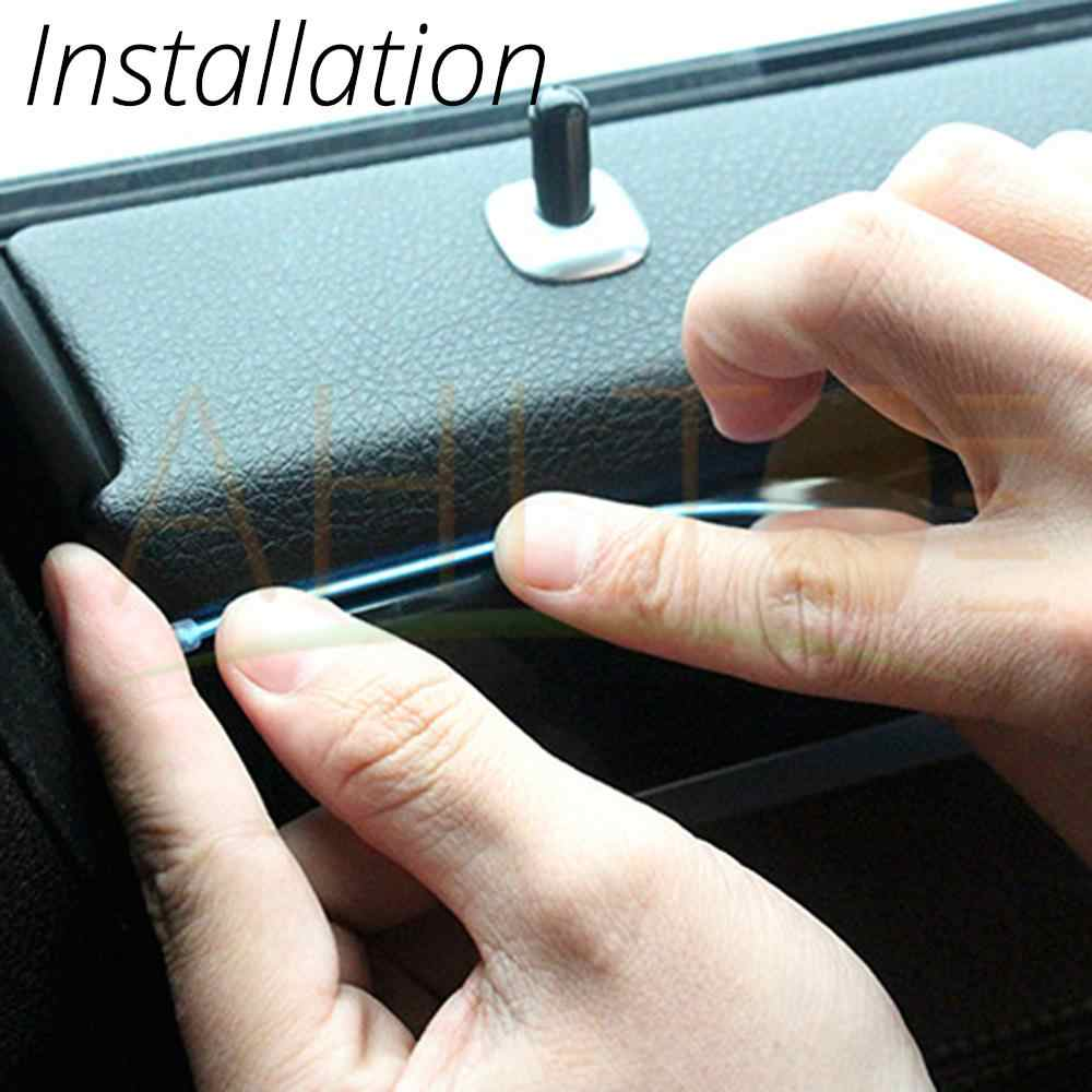 1M/2M/3M/5M, iluminación Interior de coche, tira de LED automática, cuerda de cable, tubo flexible, luz de neón con 12V, Unidad de cigarrillo USB