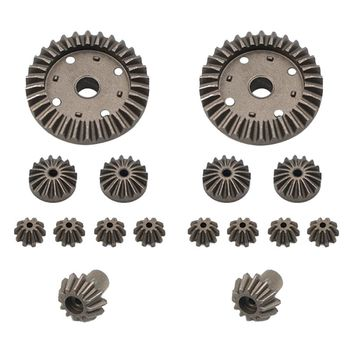 Модернизированная металлическая Шестерня 30T 24T 12T дифференциальная Шестерня для вождения s 0011/0012/0013/0014 для Wltoys 12428 12429 RC Запчасти для автомобиля
