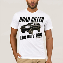 Fashion men's T shirt free shipping killer road Grand Cherokee Wj T-shirt arena Vintage V8 Jeep cruiser us car truck цена 2017