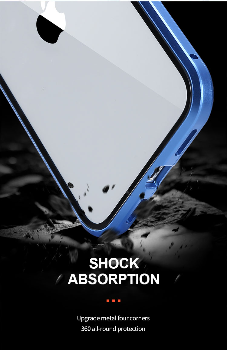 Magnetic Privacy Glass Case for iPhone