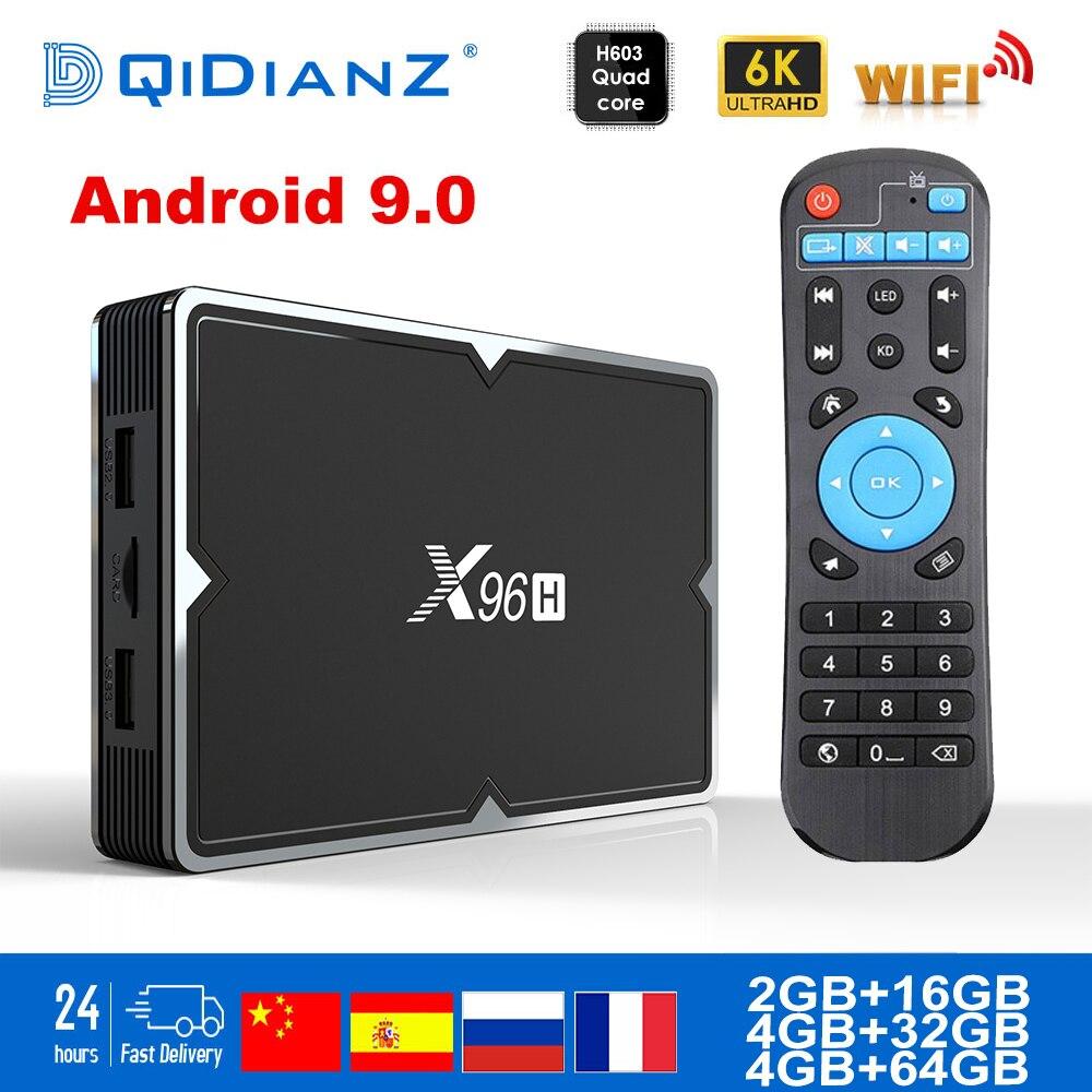 Q плюс Смарт ТВ BOX Android 9,0 H6 Quadcore Cortex A53 4G + 32G 2,4G WI FI 6 K H.265 USB 3,0 Neftflix Google Декодер каналов кабельного телевидения|ТВ-приставки и медиаплееры|   | АлиЭкспресс