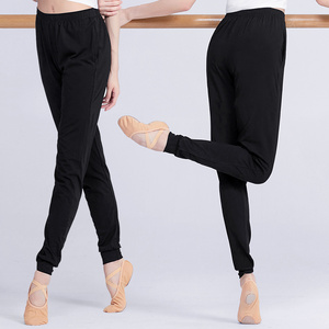 Women Cotton Ballet Dance Pants Adult Black Modal Dancing Practicing Ballet Pants(China)