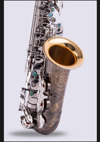 Custom Saxophone Alto Black Nickel Silver Alloy Alto Sax Brass Musical Instrument With Case Mouthpiece Reeds Accessories